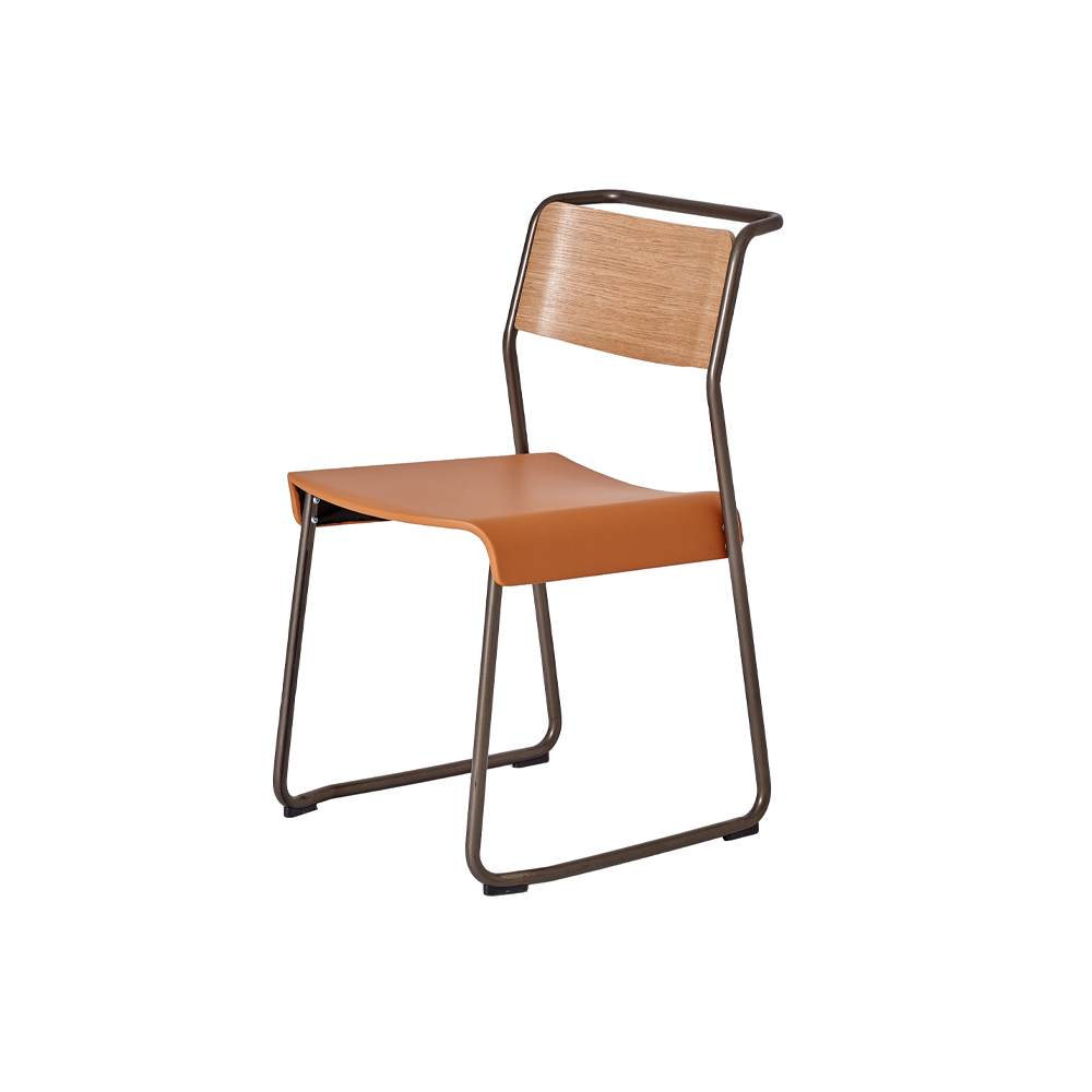 Canteen Utility Dining Chair (Upholstered)