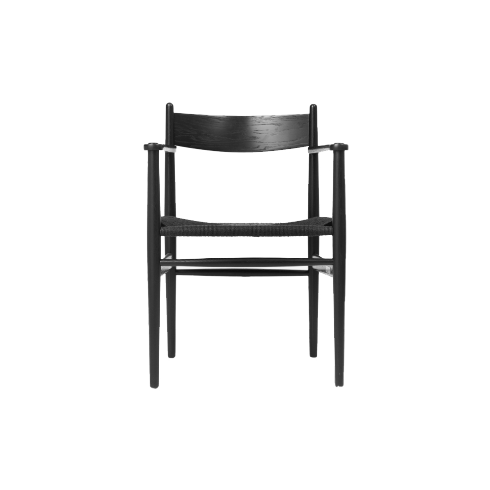 CH37 Dining chair with arms