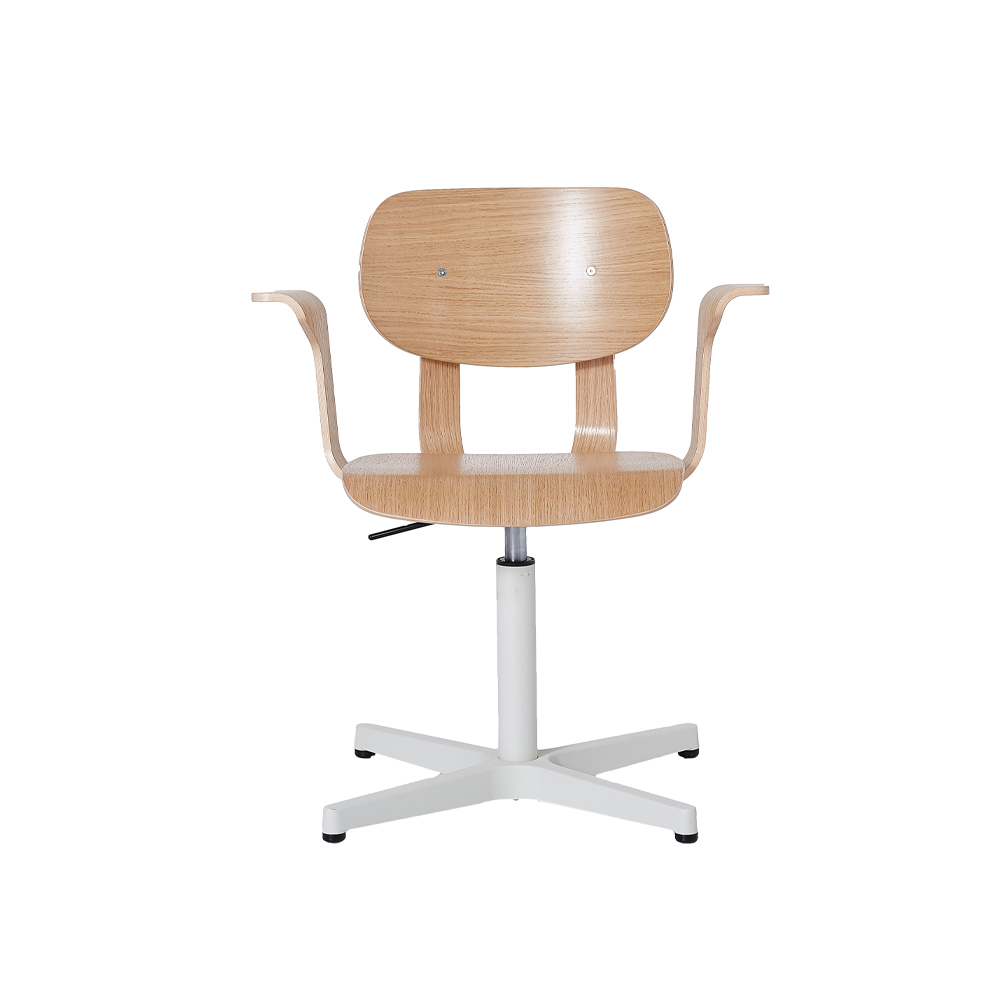 HD Pedestal Chair, Un-upholstered With Arms