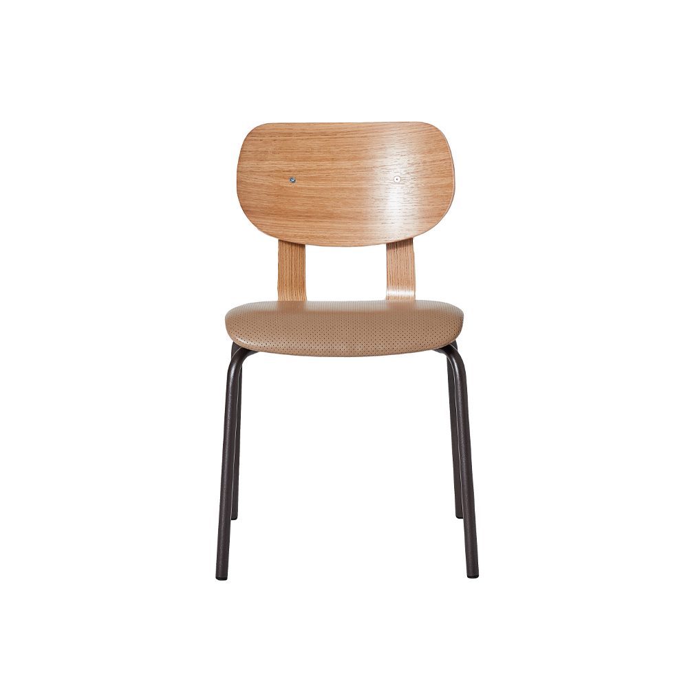 HD Stacking Chair, Upholstered Without Arms