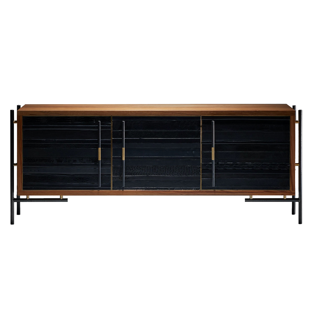 ReLeathered Sideboard