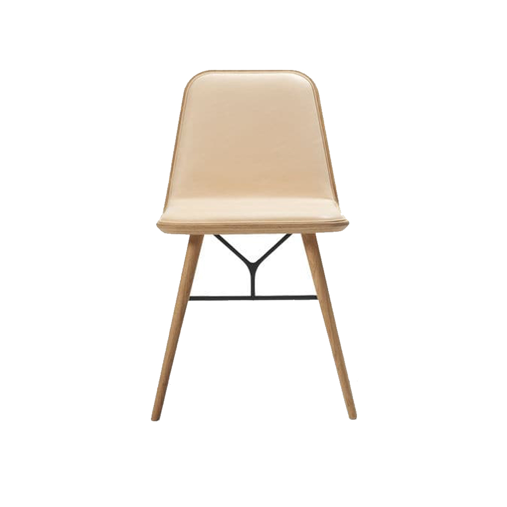 Spine Wood Base Dining Chair (Front Upholstered)