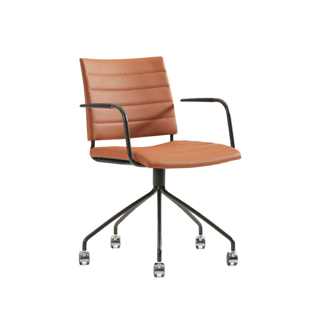 Spira Swivel Chair With Arms (Upholstered)