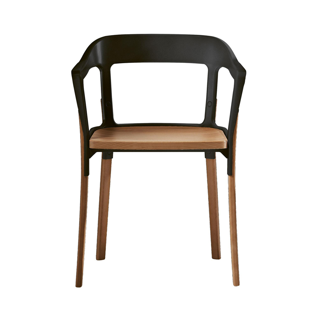 Steelwood Dining Chair with Arms (Un-upholstered)
