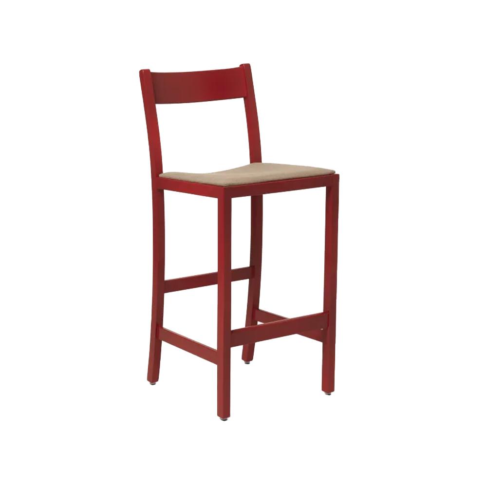 Waiter High Stool (Upholstered)