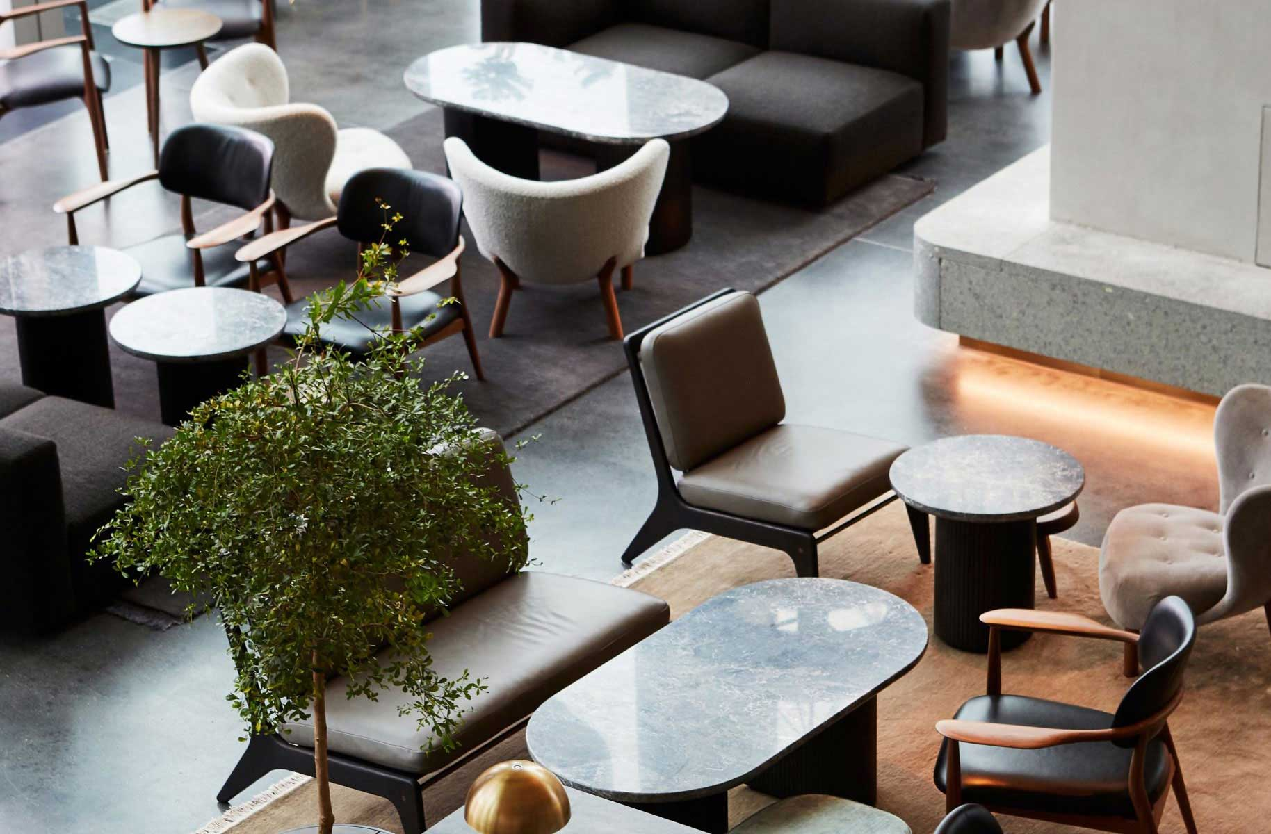 The Stratford Lobby & Brasserie, Space Copenhagen, Photography by Sam A Harris.